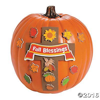 Fall Blessings Pumpkin Decorating Craft Kit Feast Pinterest