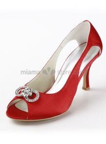 Scarpe Sposa Rosse On Line.Peep Toe Satin Rubber Sole Wedding Shoes Scarpe Da Sposa Scarpe