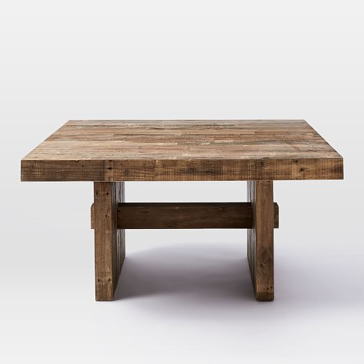 "Square Dining Table With Bench: Emmerson® Reclaimed Wood Square Dining Table (60"" Sq"