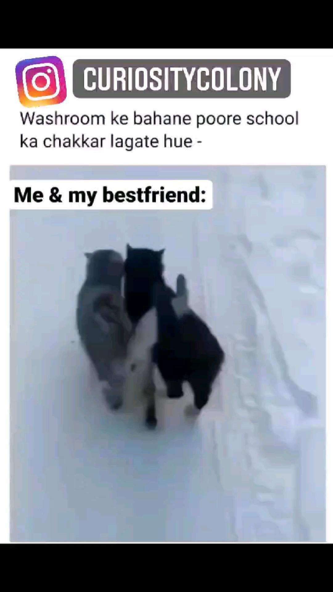 Me & My Bestie when we bunk class😂😂