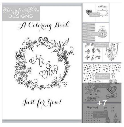 wedding coloring book modern traditional adult coloring book boy girl child children - Wedding Coloring Books For Children