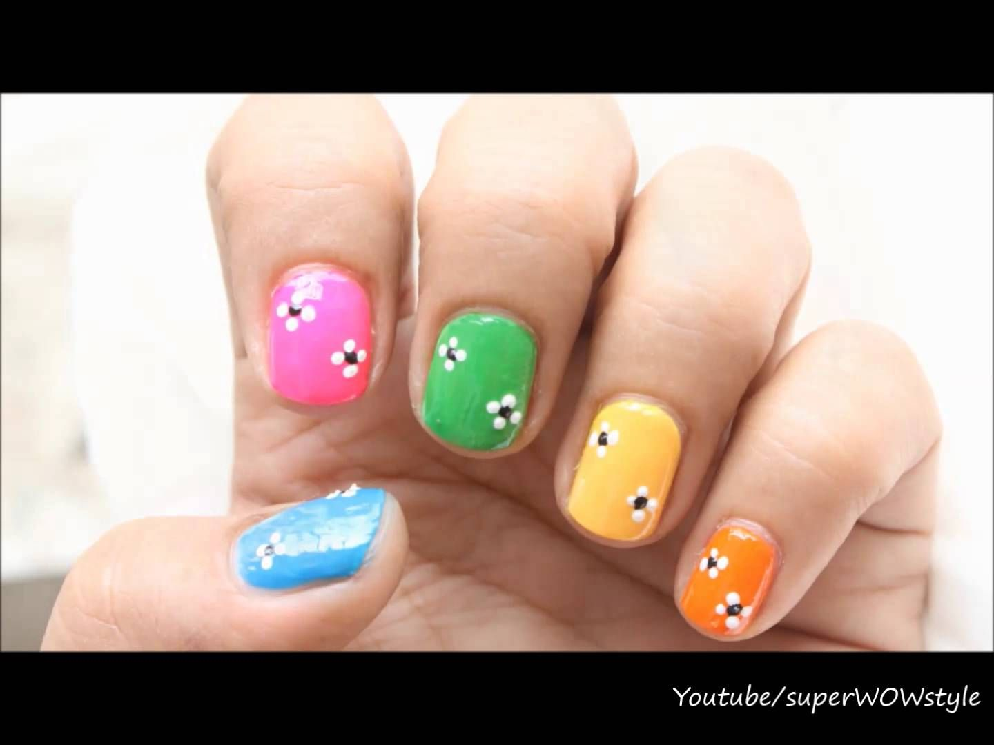 Easy Nail Designs For Kids Beginners Nail Art Using Toothpick Nail Art For Kids Simple Nail Designs Kids Nail Designs