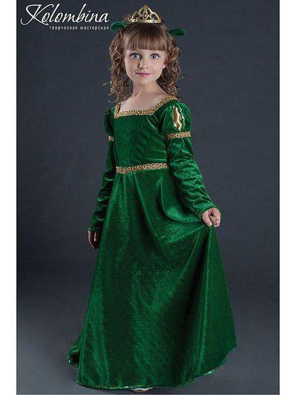 cc278f79d5e Детские карнавальные костюмы ручной работы. Ярмарка Мастеров - ручная работа.  Купить Костюм принцессы Фионы. Handmade. Тёмно-зелёный