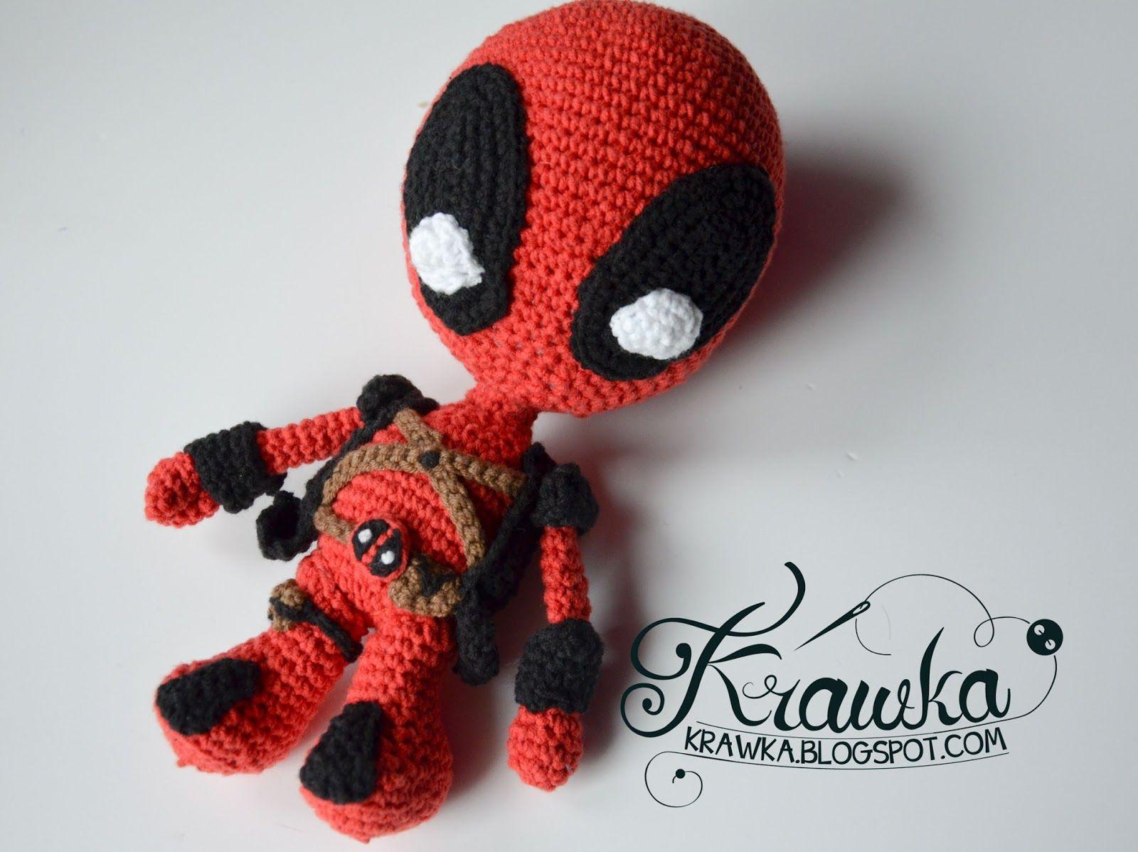 Krawka: Deadpool superhero / villain Marvel comic / movie crochet ...