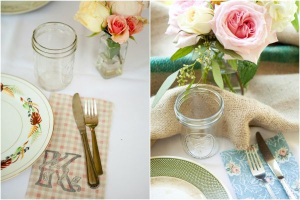 Farm Wedding Vintage Eclectic Ideas Monogrammed Napkins Burlap Pie Ranch