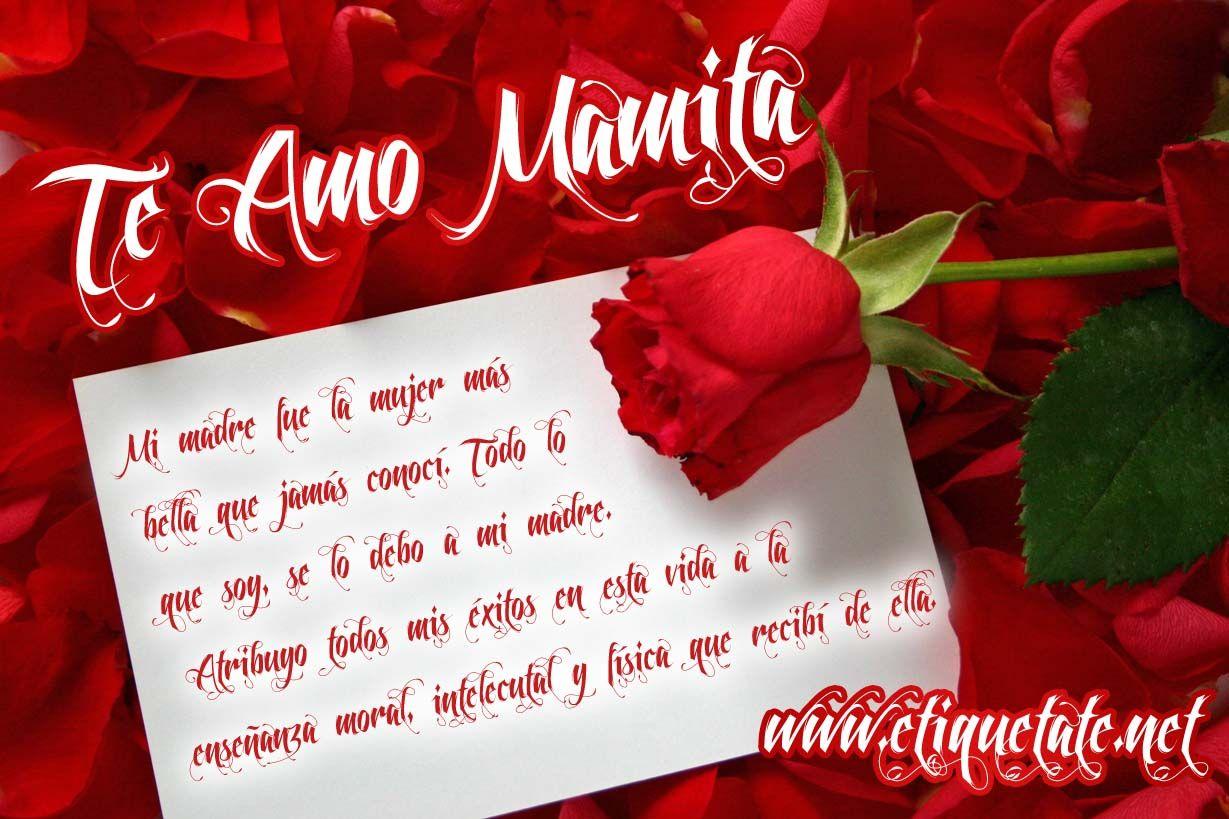 te amo mucho mami muha   Feliz día de la madre, Feliz día mamá frases,  Feliz día mamacita