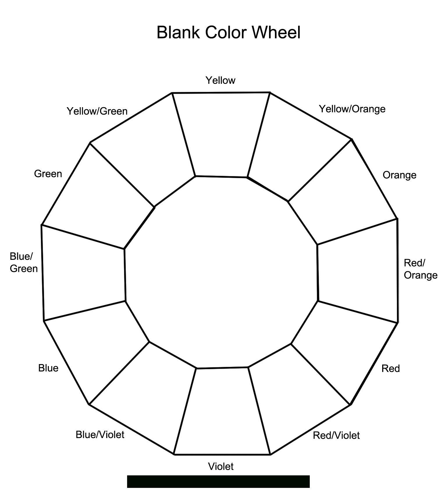 12 Section Colour Wheel In