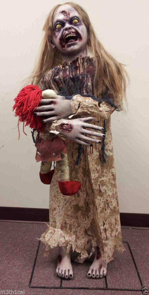 zombie girl halloween prop haunted house creepy realistic scary decor display - Zombie Props