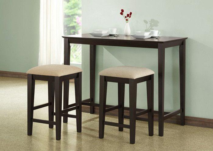 "Cappuccino Oak Veneer 24""x 48"" Counter Hght Kitchen Table"