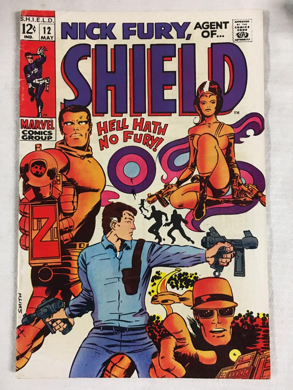 Marvel comics group agent of shield 12 may vintage