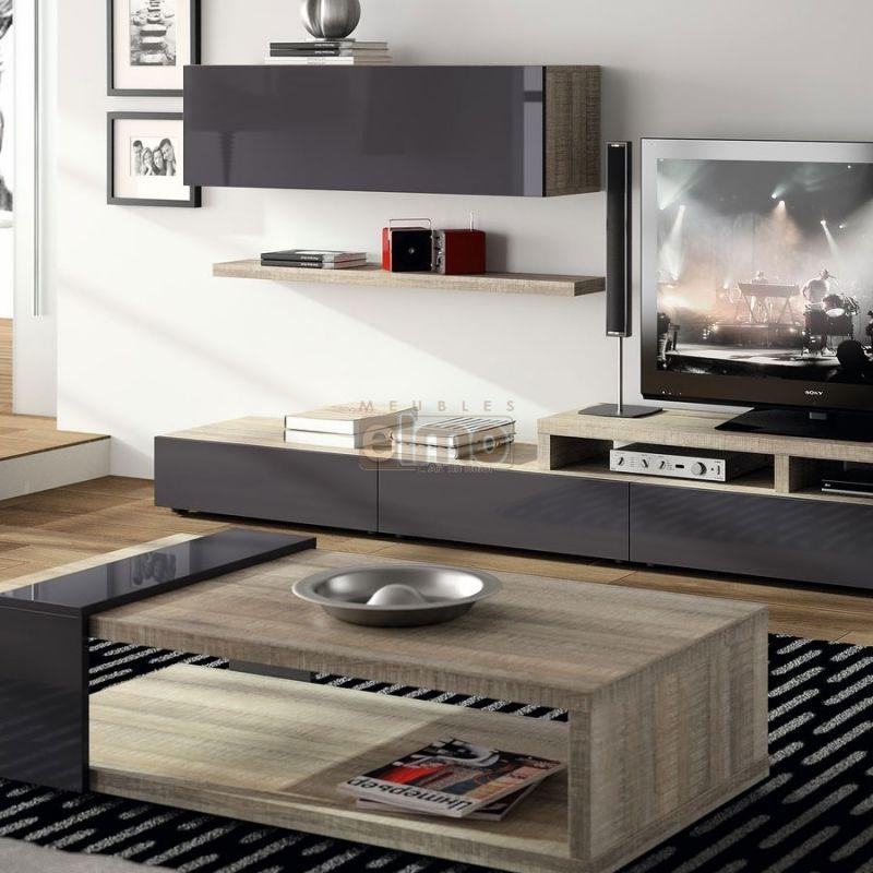 meuble t l vision design contemporain bois et laque brooklyn table basse bois en 2019 pinterest. Black Bedroom Furniture Sets. Home Design Ideas