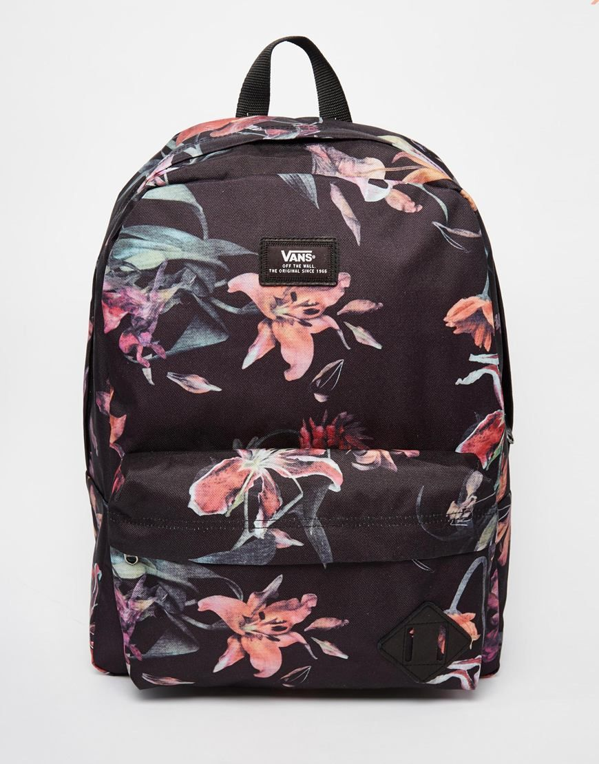 56850269962ee Image 1 of Vans Old School Backpack in Floral Print Mochila Feminina, Eua,  Mala