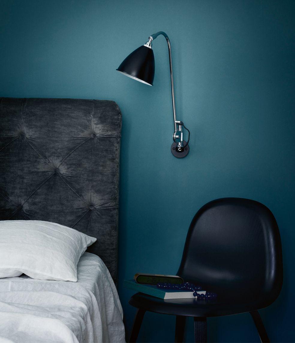 Entre Style Vintage Et Lignes Contemporaines Avec Images Deco Chambre Bleu Deco Chambre Chambre Bleu