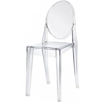 Attractive Philippe Starck Victoria Ghost Crystal Clear Plastic Chair