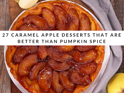 27 Caramel Apple Desserts That Are Better Than Pumpkin Spice #caramelapplecheesecake