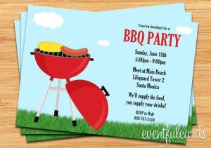 printable barbecue party ideas invitations summer party invitation