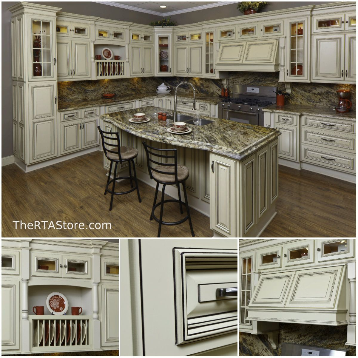 White Kitchen Cabinets Resale Value: Kitchen Of The Day: Vintage White #TheRTAStore.com