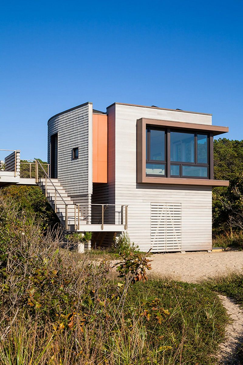 """Small Modern Cape Cod House Plan Cathedral Ceiling 1 Car: Ruhl Walker Architects Design """"House Of Shifting Sands"""" In"""