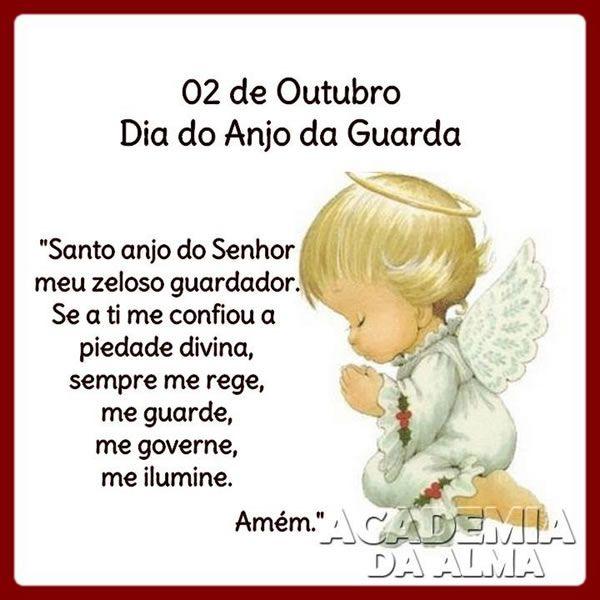 Dia Do Anjo Da Guarda Imagem 7 Mensagens De Oracao Mensagens