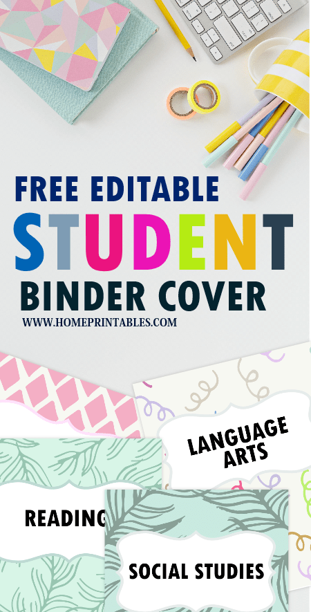 FREE School Binder Divider Printables Fun and Cute Templates! is part of School Organization Printables - Organize your student binder in a snap  This free printable school binder printable pack will help you do that  It includes binder covers for all subjects that you can use for FREE  Get yours!