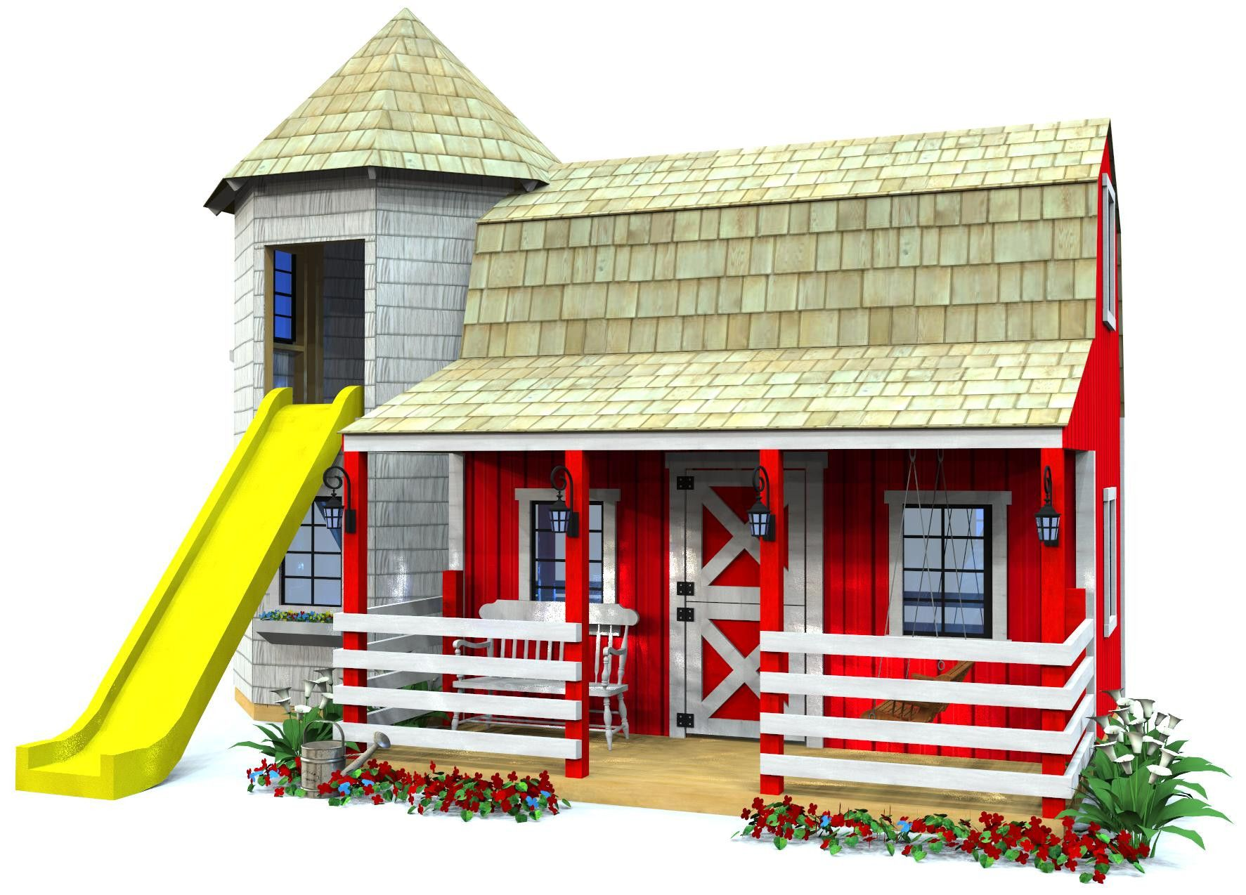 Barn silo playhouse plan playhouse plans playhouses for Design your own barn
