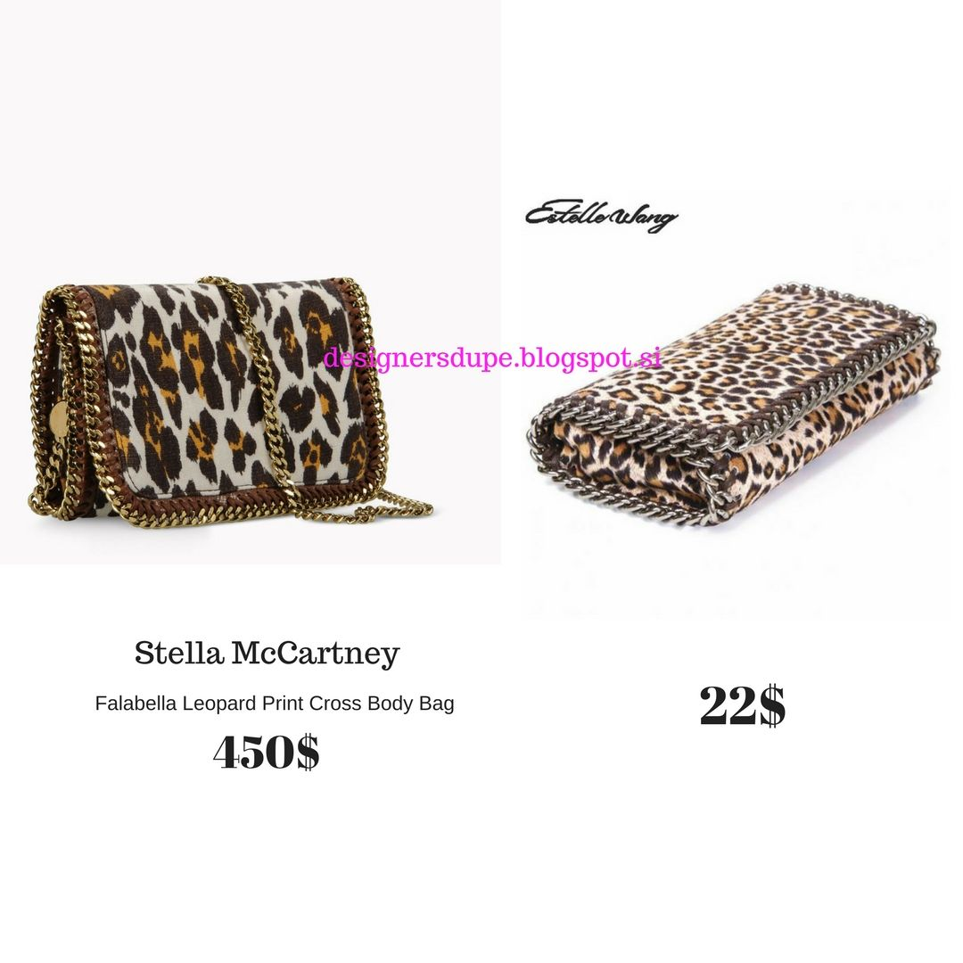 DESIGNERS DUPE designersdupe.blogspot.si Stella Mccartney Falabella Leopard  Print Chain Small Clutch Cross Body Bag Cheap Affordable  fashion   fashionblog ... d65818236ef94