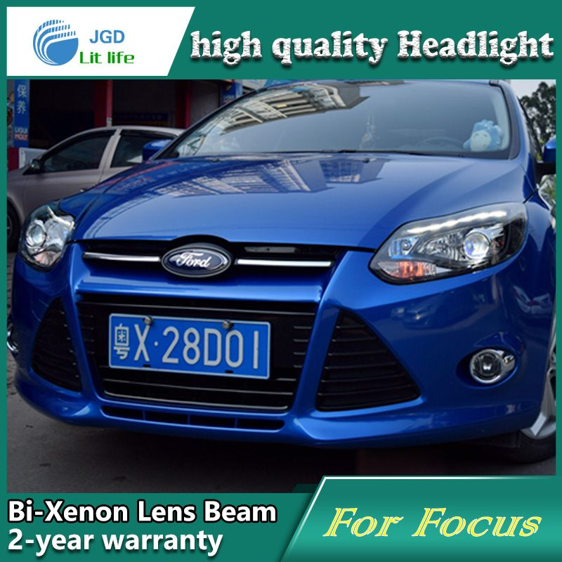 Car Styling Head Lamp Case For Ford Focus 2012 2014 Headlights Led Headlight Drl Lens Double Beam Bi Xe Led Headlights Cars Car Headliner Repair Car Led Lights