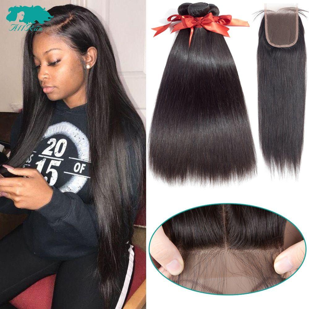 Brazilian Straight Hair Bundles With Closure 2 3 Bundles 100 Human Hair Weave Bundles With C Straight Hair Bundles Brazilian Straight Hair Straight Hairstyles