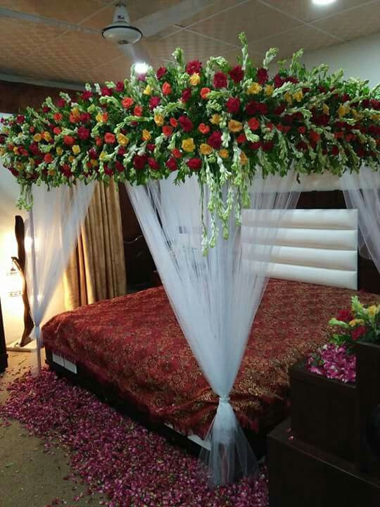 Pin By Dacan Fancy Flower On Wedding Shadi Bed Sej Masehri Flower