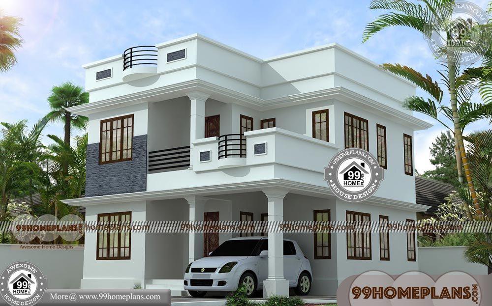 35 X 60 House Plans With Modern Two Storey Homes Having 2 Floor 3 Total Bedroom 3 Total Bathroom Kerala House Design Beautiful House Plans Duplex House Plans