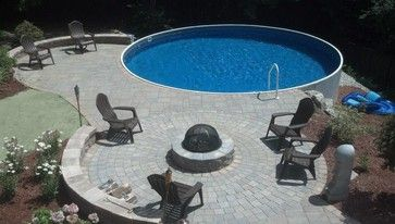 Manchester Radiant Pool Patio Fire Pit Pool Outside
