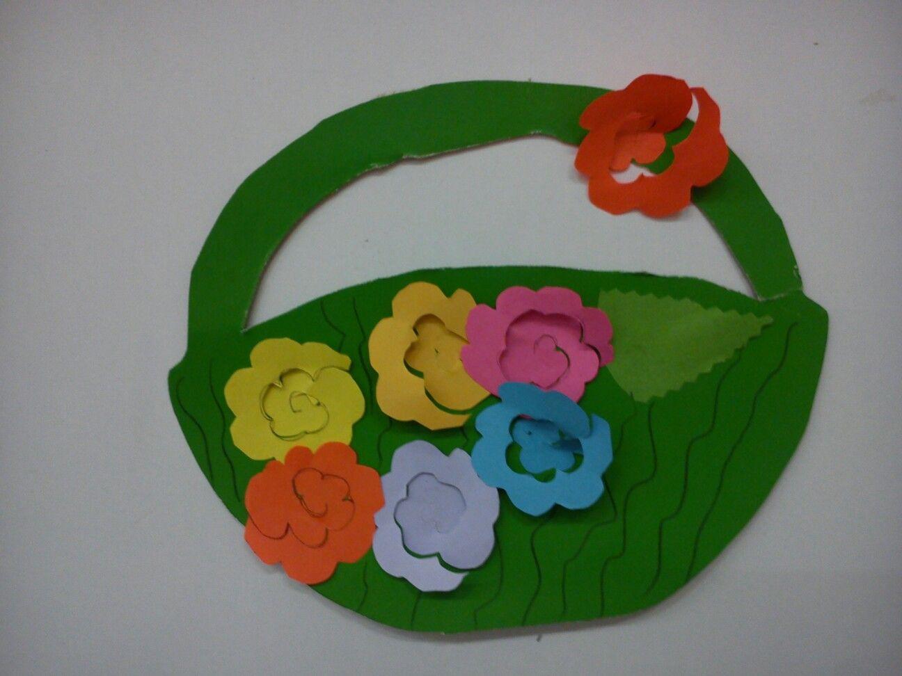 Virág kosárban  Tavasz virágok  Pinterest