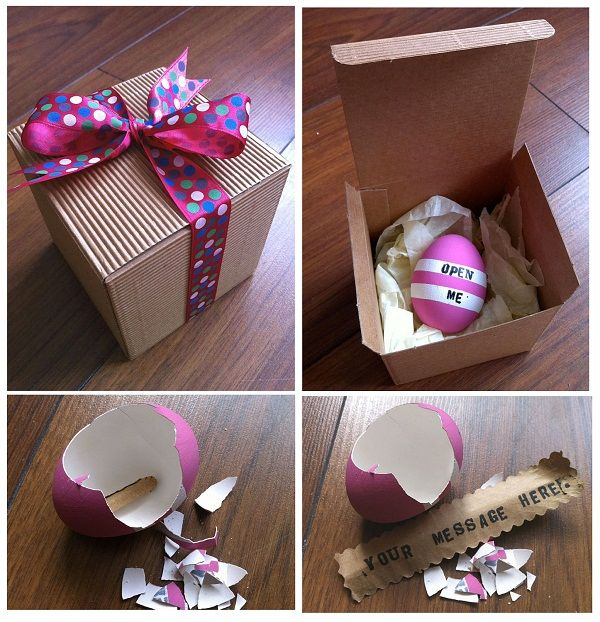 Easter gift craft ideas egg with secret message easter easter gift craft ideas egg with secret message negle Gallery