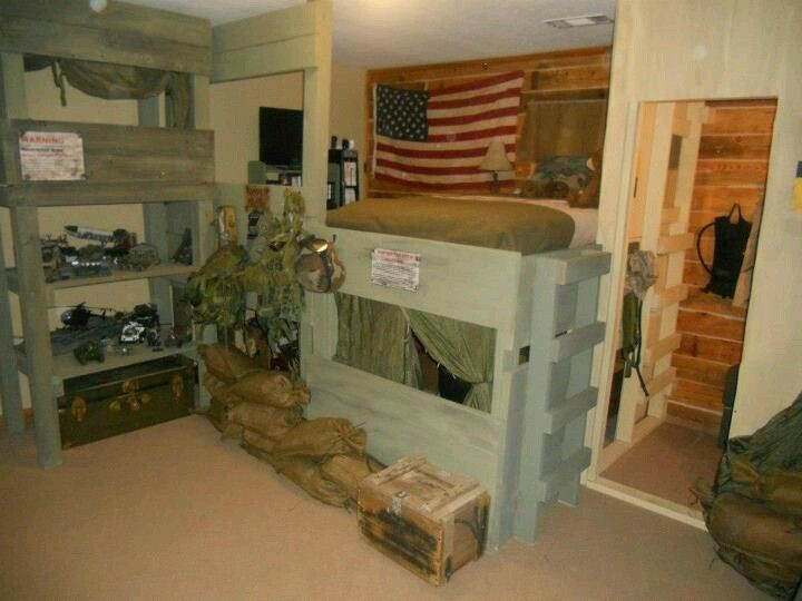 my little boy 39 s military bedroom complete with sniper