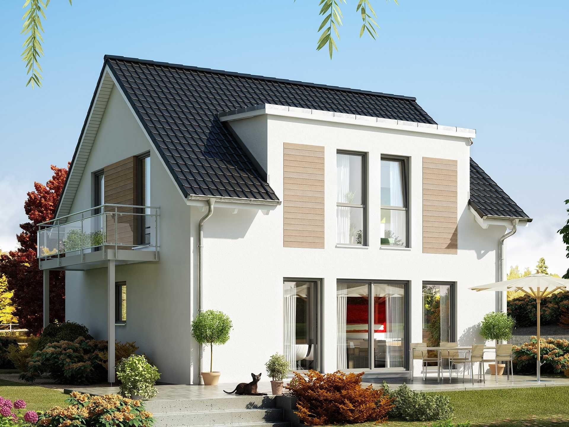 Einfamilienhaus satteldach zwerchgiebel  Celebration 125 V5 • Effizienzhaus von Bien-Zenker • Modernes ...