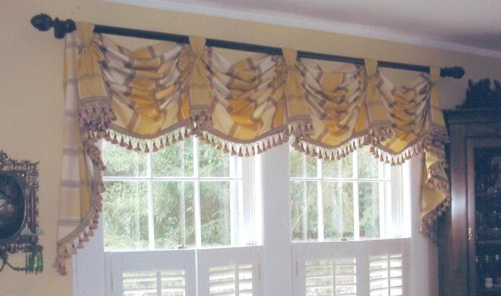 Garlan S Sewing Workroom Gallery Kitchen Valances Home Curtains Custom Window Treatments Roman