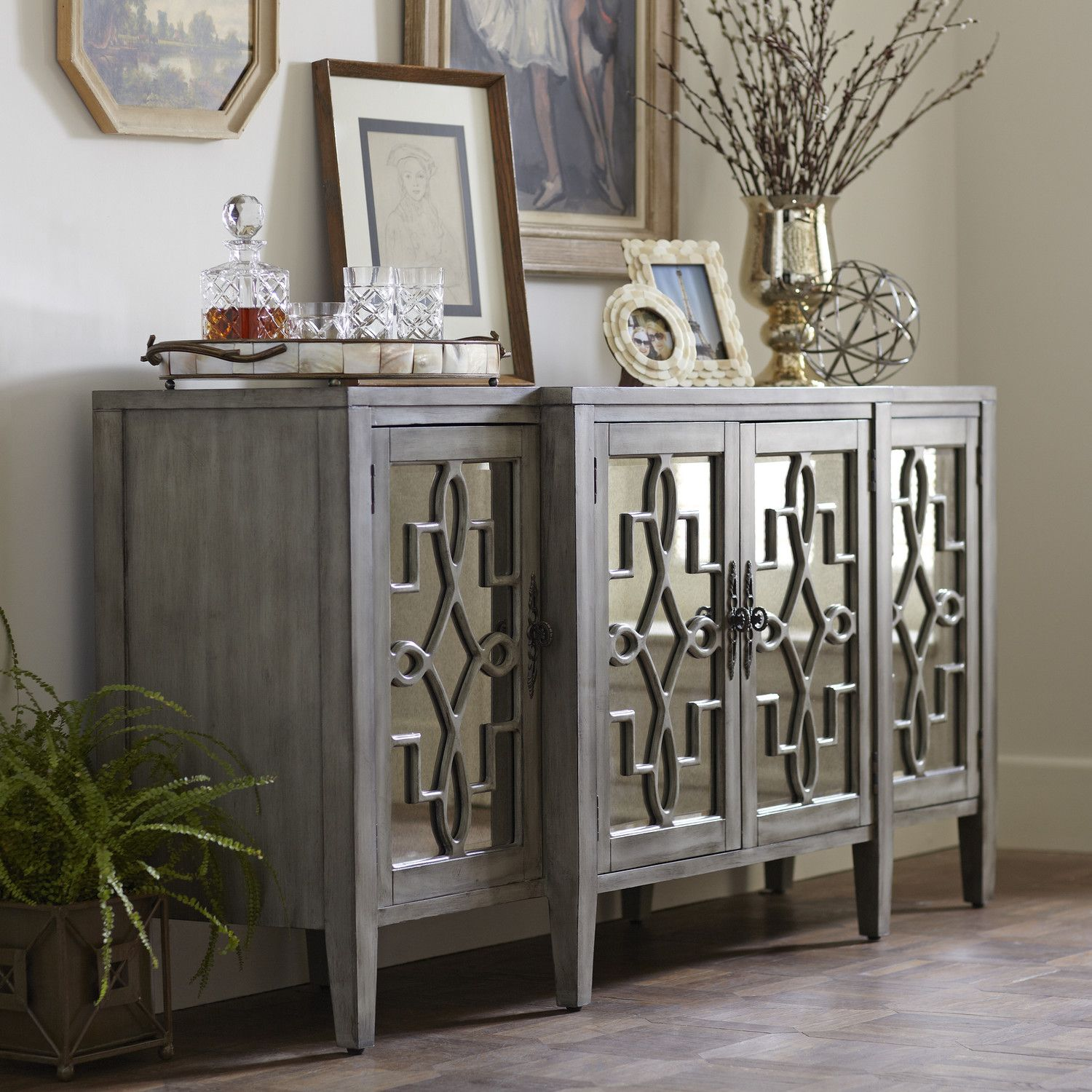 mirrored sideboard table birch hurley mirrored credenza 1 099 buffets 4166