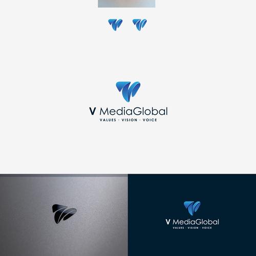 V Media Global Create A Disrutive And Progressive Logo For A Startup Digital Marketing Boutique Vmedia Is A Disru Progressive Logo Geometric Logo Logo Design