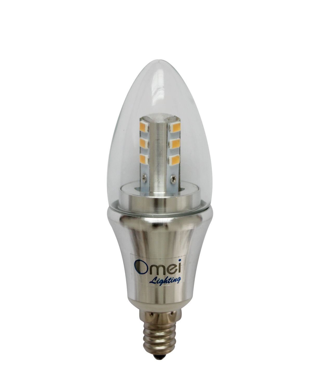Daylight Led Bulbs: Led Candelabra Bulb Daylight Dimmable 6-Pack OmaiLighting