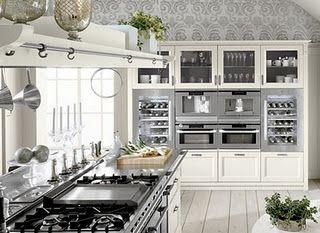elettrodomestici a vista in acciaio | cucina | Pinterest | Shabby ...