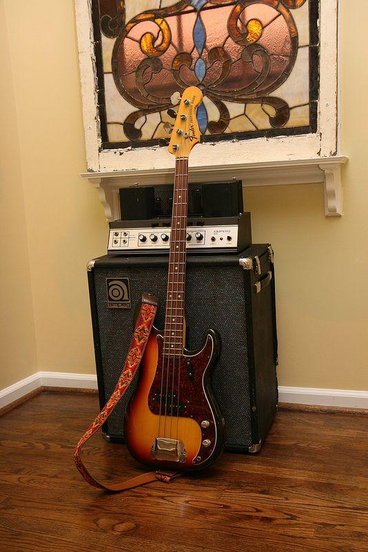 1970 Fender Precision Bass & 1968 Ampeg B15N Portaflex Fliptop