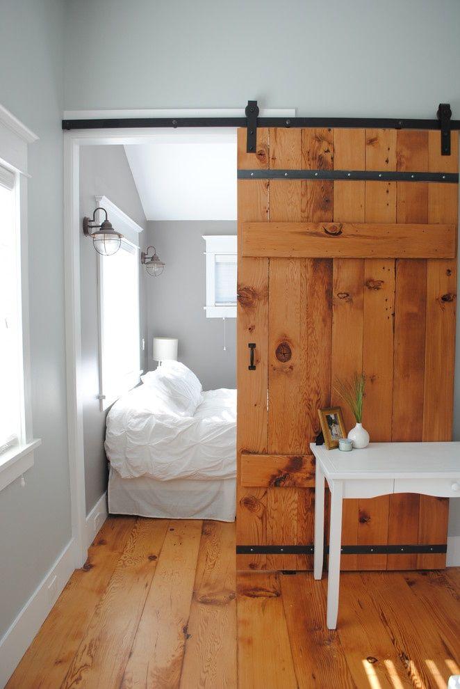 Bedroom Behind Rustic Timber Door | Or a barn-style door will add ...