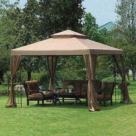 Garden Winds Replacement Canopy Top For Big Lot S 10x10 Gazebo Walmart Com Outdoor Pergola Backyard Gazebo Gazebo Replacement Canopy