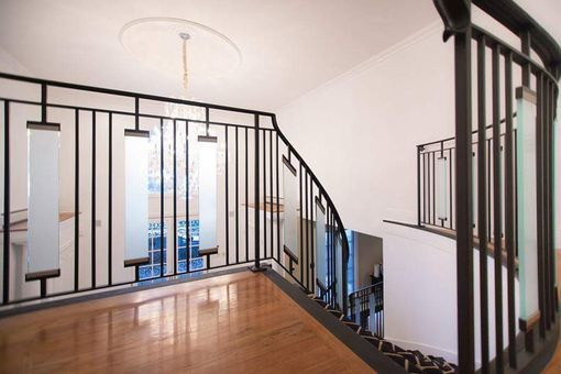 Custom Made Contemporary Wrought Iron Interior Railing With