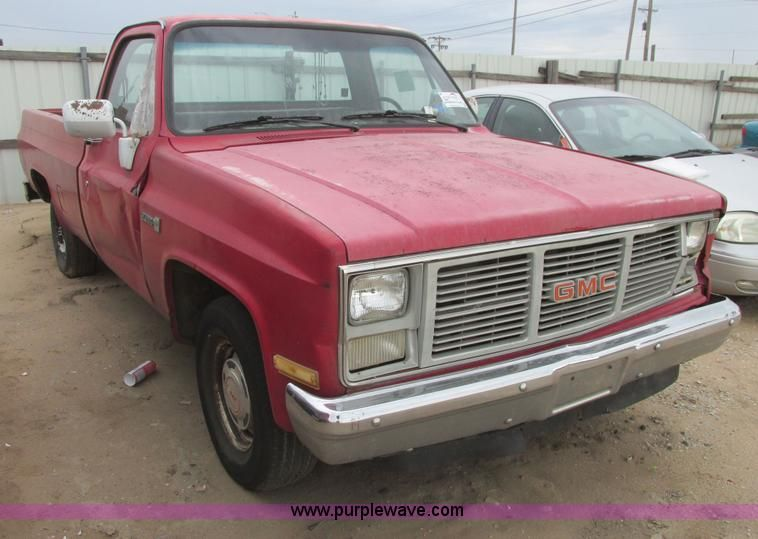 Image For Item I9557 1985 Gmc Sierra 1500 Pickup Truck Gmc Sierra 1500 Gmc Sierra Pickup Trucks For Sale