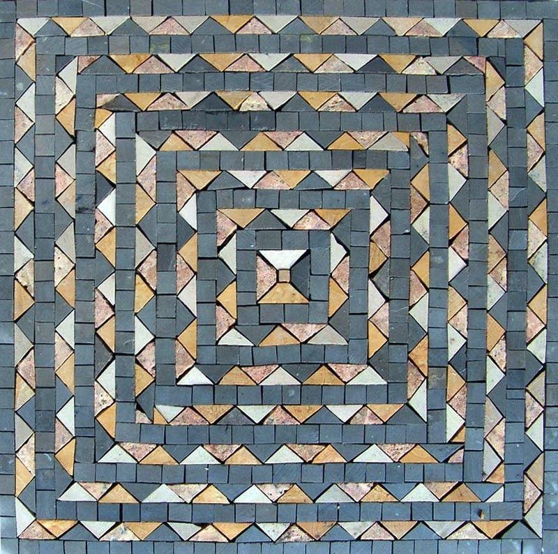 Slate Azar Modern Accent Mosaic Panel - Modern Mosaic Accent Panel – Azar - Mosaic Designs - Mosaic Patterns - Handmade Mosaics - Tiles   #Mozaico