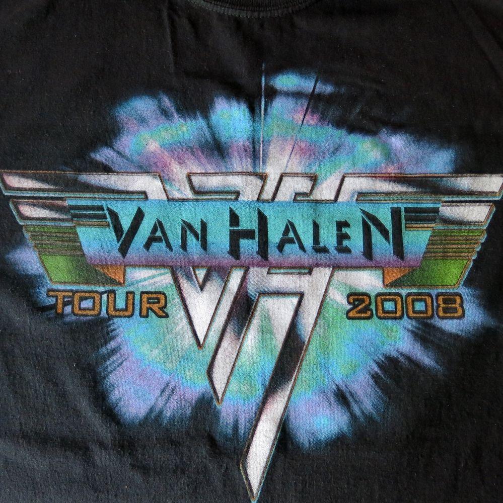 Van Halen Tour Shirt 2008 Eddie Alex Wolfgang David Lee Roth Kymani Marley Sz L Vanhalen Tour Shirt Flying Monkey Van Halen