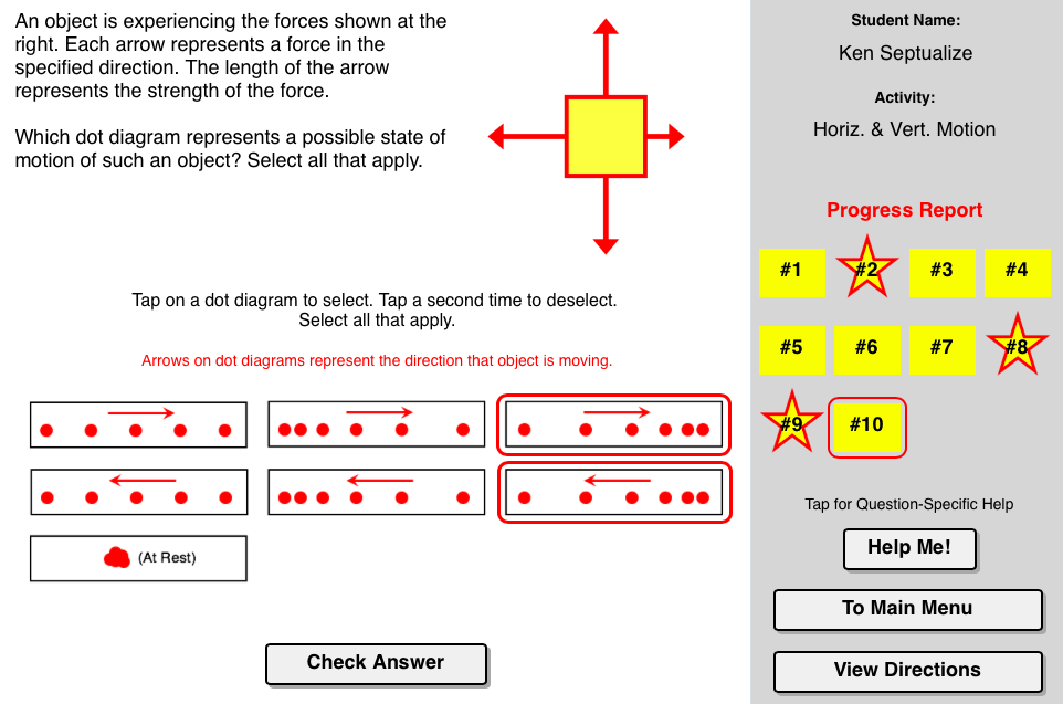 Force And Motion Concept Builder Challenges The Learner To Make The Connection Between Balanced And Unbalan Force And Motion Physics Concepts Physics Projects