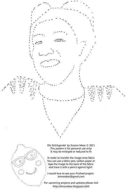 Embroider Ella Fitzgerald! From lemondear