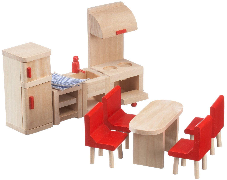 Beeboo 32302 - Muebles de cocina de madera para casa de muñecas ...